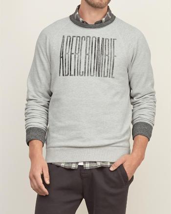 ANF Distressed Logo Graphic Sweatshirt