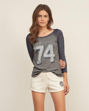 Womens Baseball Graphic Tee
