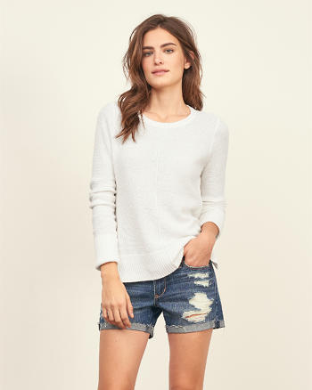 ANF Textured Knit Sweater