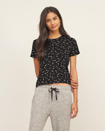 ANF Short Sleeve Cropped Tee