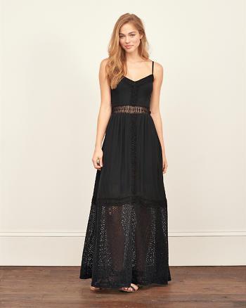 ANF Lace Panel Maxi Dress