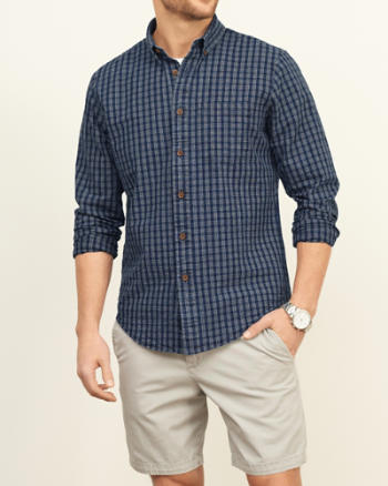 ANF Textured Patterned Shirt