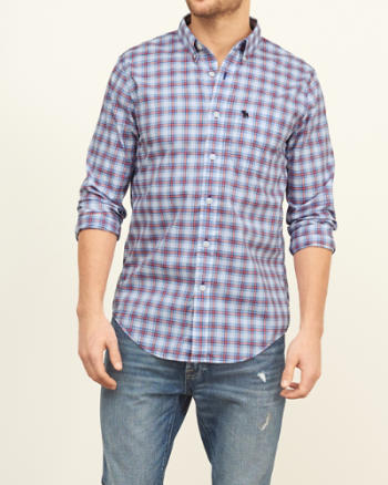 Mens Classic Fit Poplin Shirt