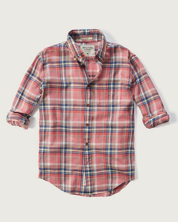 Mens classic fit madras shirt mens sale for Mens madras shirt sale