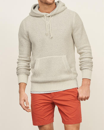 ANF Textured Pullover Hoodie