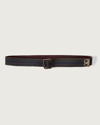 Mens Reversible Woven Belt