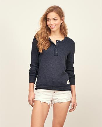 ANF Henley Crew Sweatshirt