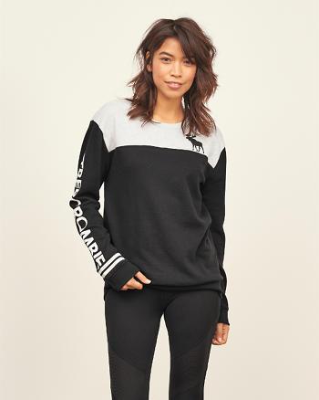 ANF Colorblock Logo Crew Sweatshirt
