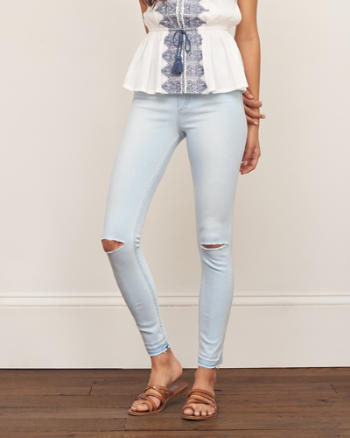 Womens High Rise Super Skinny Jeans
