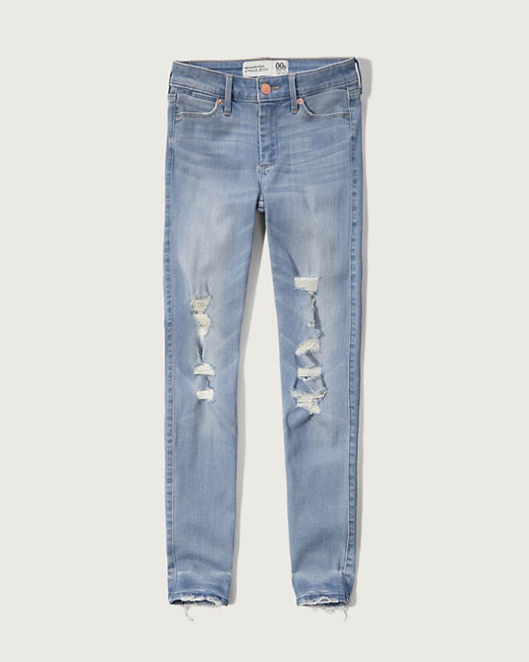 Abercrombie & Fitch Super Skinny Jeans for women are the ultimate form-fitting jeans. With over years of expertise, Abercrombie & Fitch brings the best fabrics and dynamic designs to every pair of womens jeans we make.