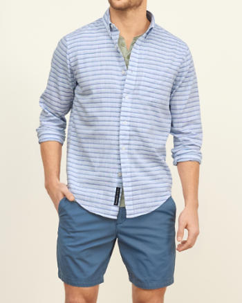 Mens Textural Stripe Shirt