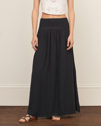 ANF Smocked Maxi Skirt