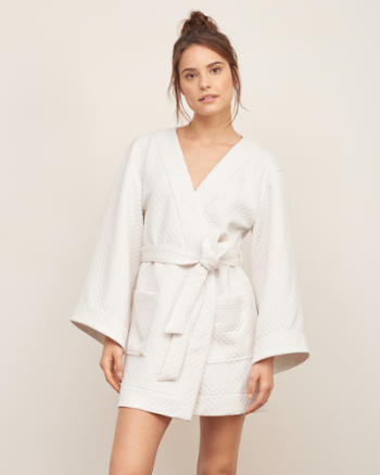 Womens Quilted Sleep Robe
