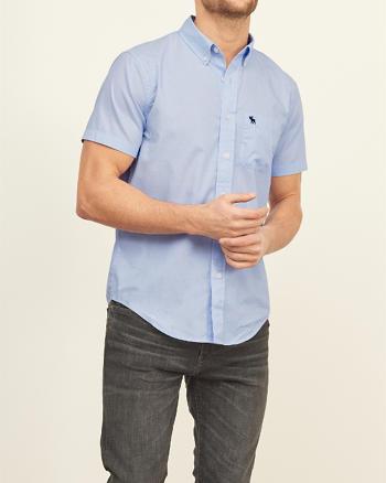ANF Iconic Poplin Short Sleeve Shirt