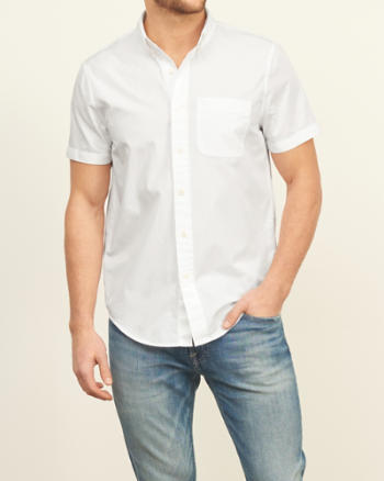 Mens Iconic Poplin Short Sleeve Shirt
