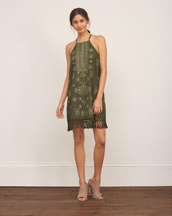 ANF Embroidered Shift Dress