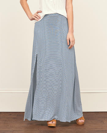 ANF Striped Maxi Skirt