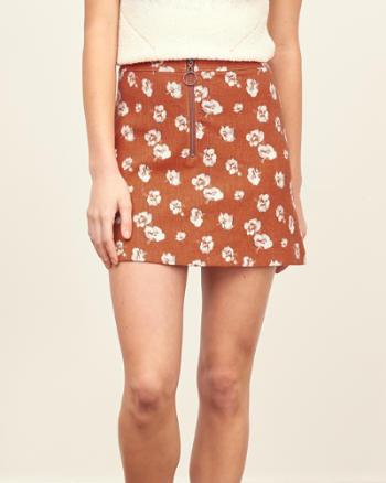 Womens Printed A-Line Skirt