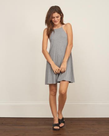 Womens Drapey Swing Dress