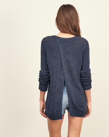 ANF Split Back Sweater