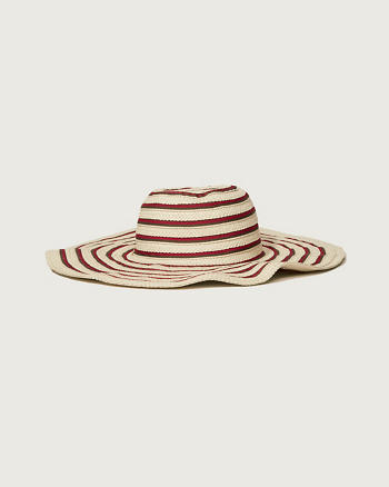 ANF Striped Floppy Hat