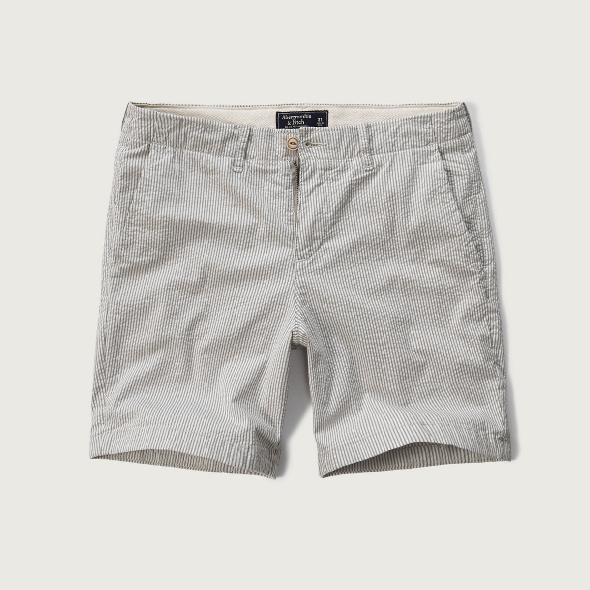 A&F Seersucker Preppy Fit Shorts