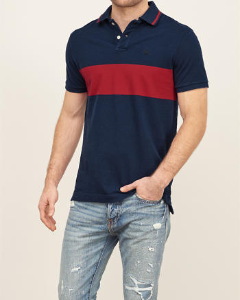 ANF Classic Fit Striped Polo