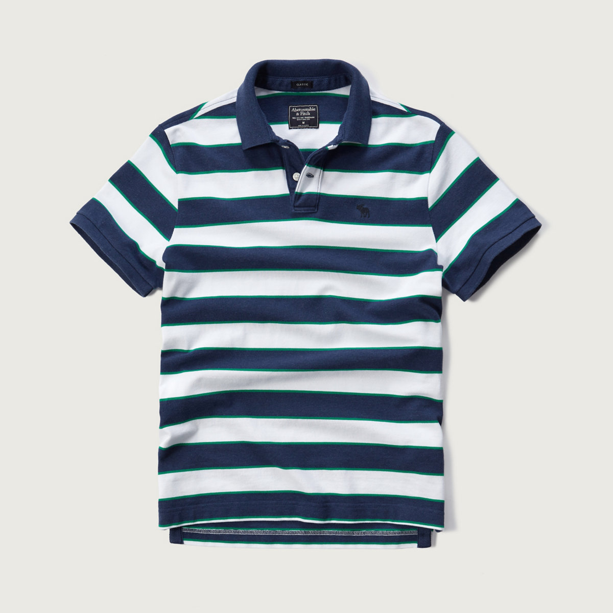 Classic Fit Striped Polo