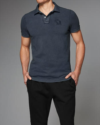 ANF Washed Exploded Icon Polo