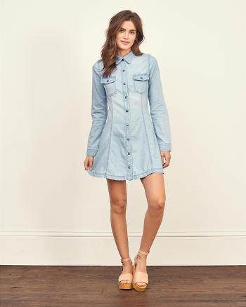 ANF Denim Fit and Flare Dress