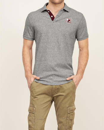 ANF Classic Fit Heritage Logo Polo