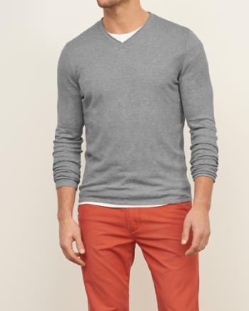 Mens V Neck Sweater