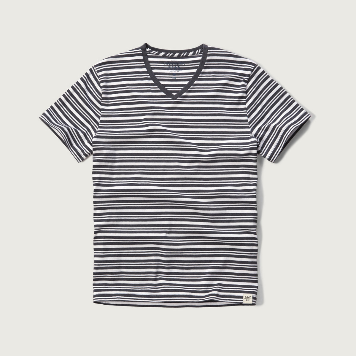 Striped V Neck Tee