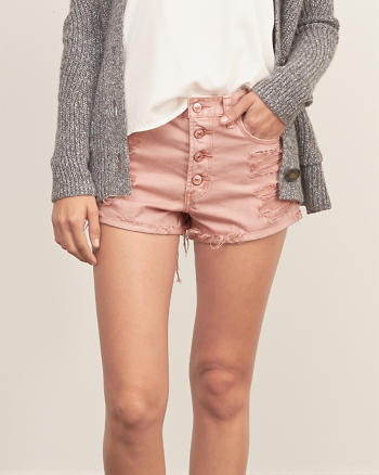 ANF High Rise 2 Inch Denim Shorts