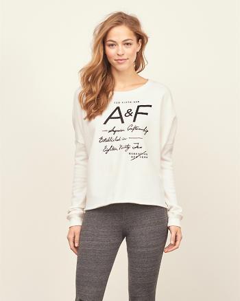 ANF Cutoff Logo Crew Sweatshirt