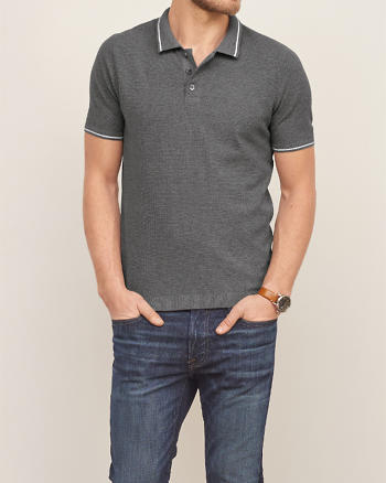 ANF Knit Tipped Polo