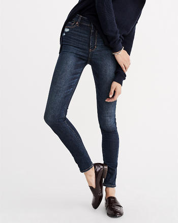 High-Rise Ripped Super Skinny Jeans