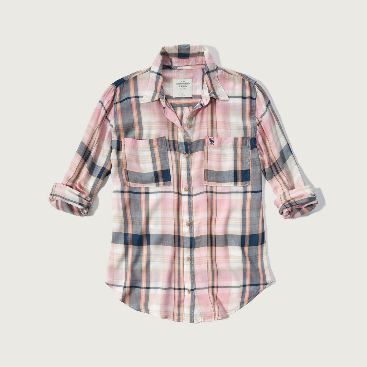 Drapey Plaid Shirt