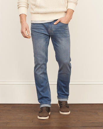 ANF Slim Straight Performance Stretch Jeans