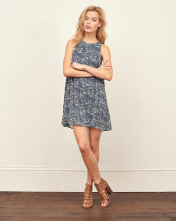 Womens Easy Swing Dress
