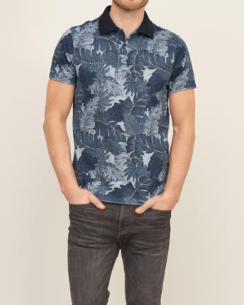 Mens Printed Polo