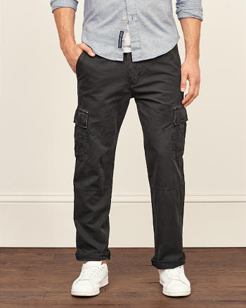 ANF Slim Straight Cargo Pants