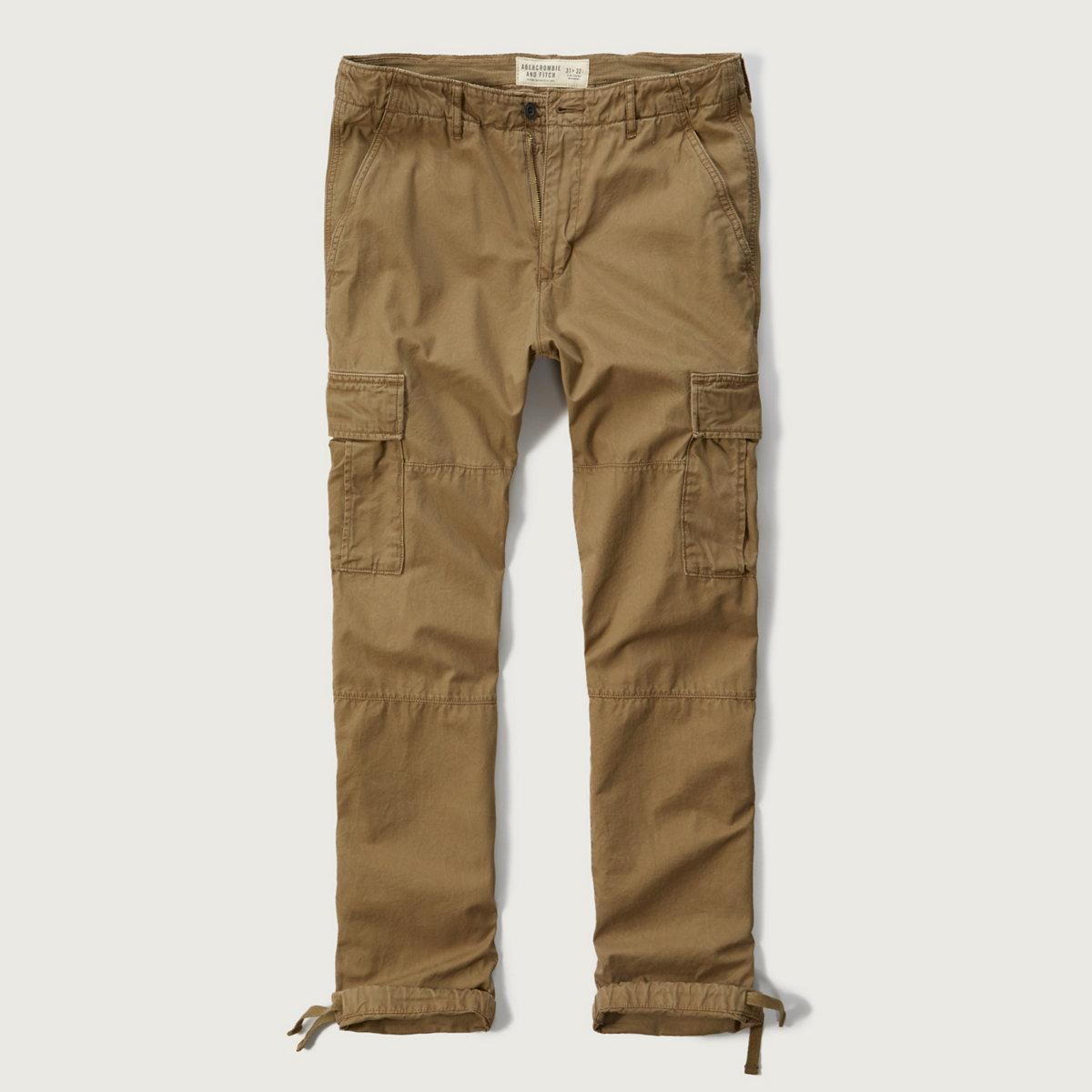 Slim Straight Cargo Pants