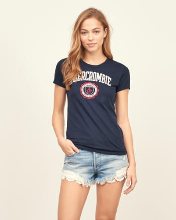 Womens Slim Logo Graphic Tee