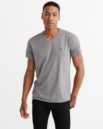 ANF Iconic V Neck Tee