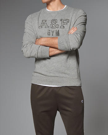 ANF Logo Graphic Crew Sweatshirt