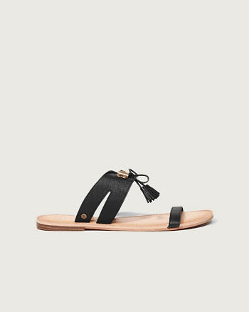 ANF Tassel Slide Sandals