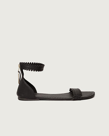 ANF Scalloped Sandals