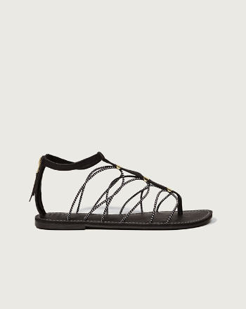 Womens Bungee T-Strap Sandals