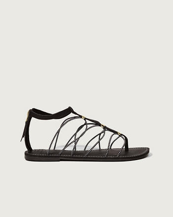 ANF Bungee T-Strap Sandals